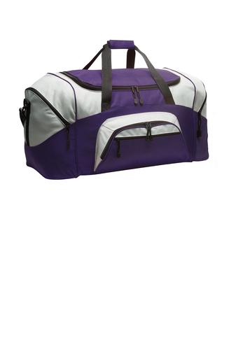 custom purple duffel bag