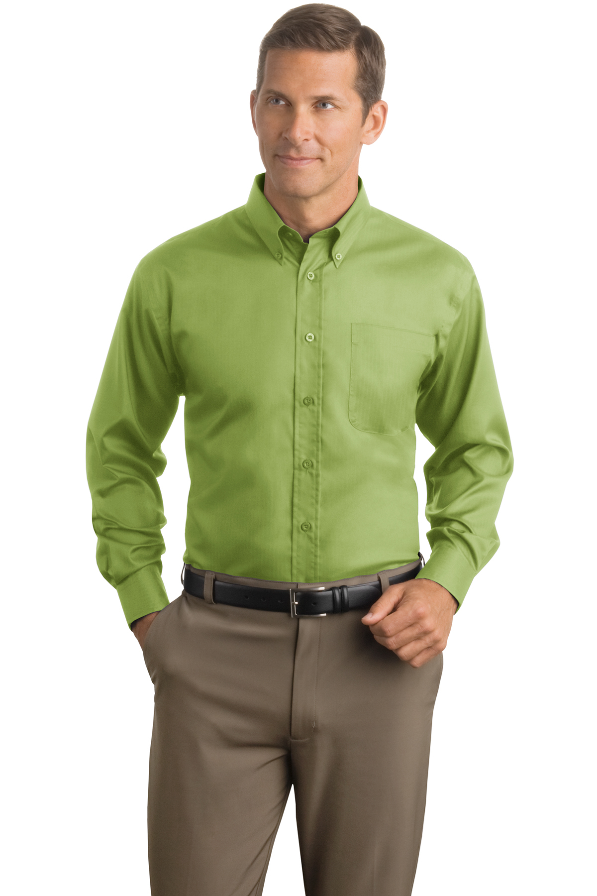 50955ed1 Red House® - Herringbone Non-Iron Button-Down Shirt   Cotton   Woven Shirts    SanMar
