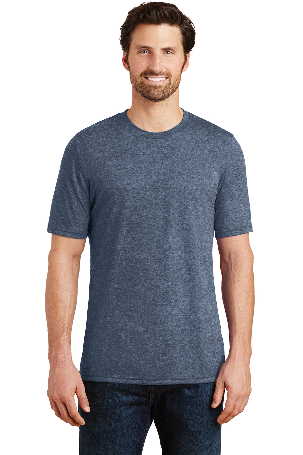 District made mens perfect tri crew tee fashion t for The queensboro shirt company