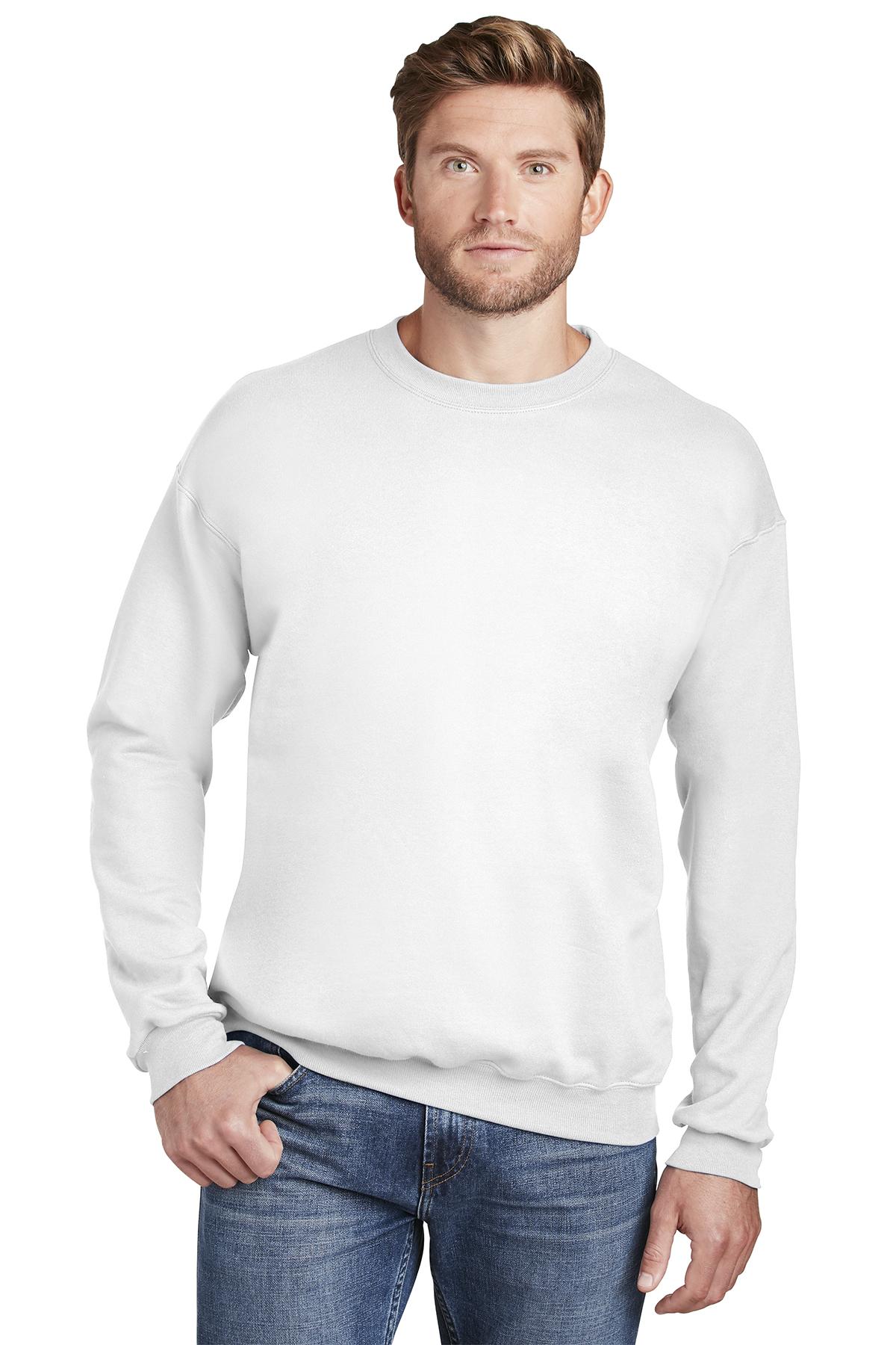 Hanes Mens PrintProXP Ultimate Cotton Crewneck Sweatshirt F260 Up to 3XL