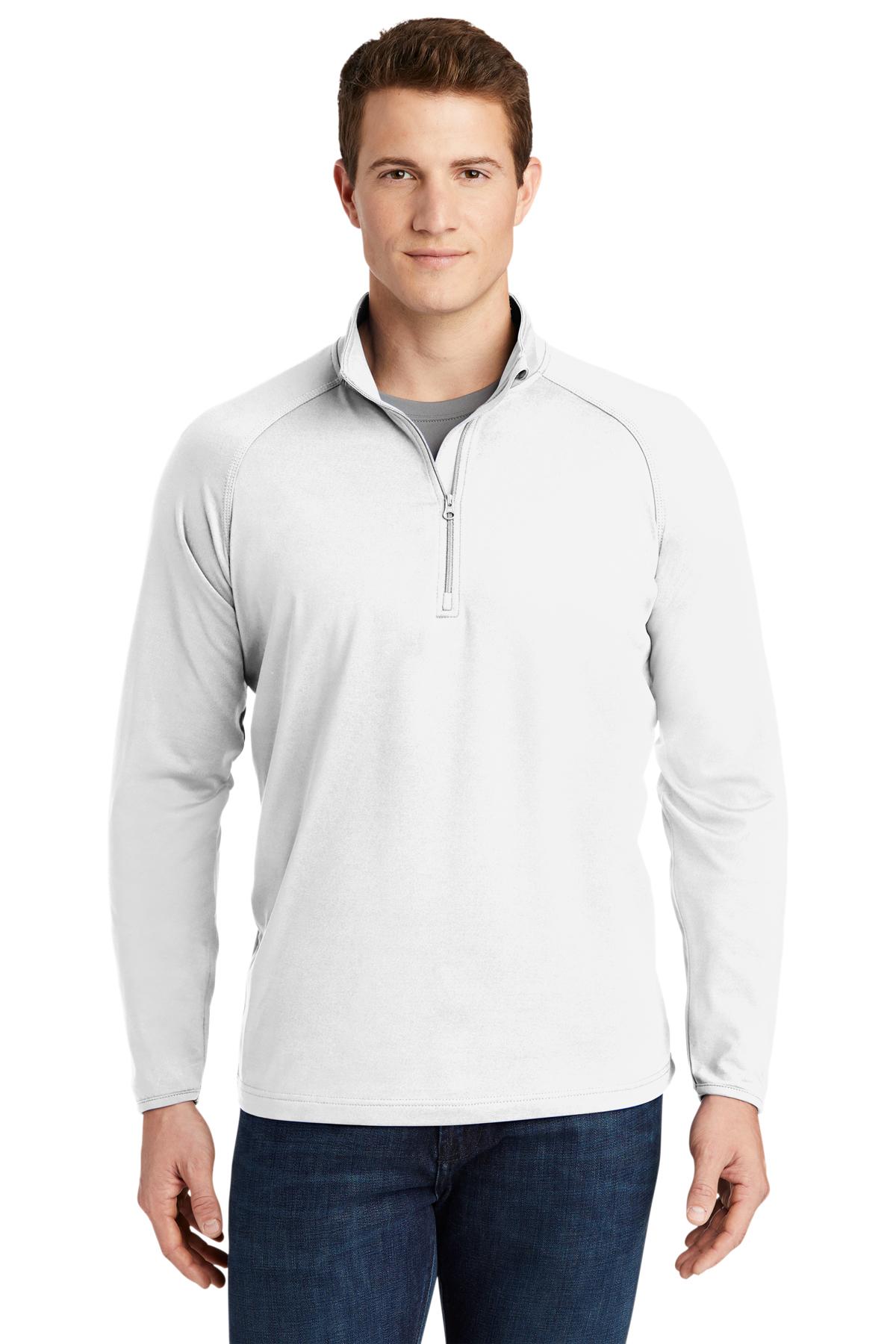 SPORT-TEK Mens Tall Sport Wick Stretch 1//2 Zip Pullover