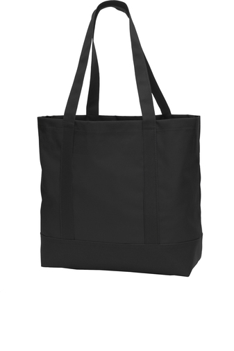 black custom tote bag