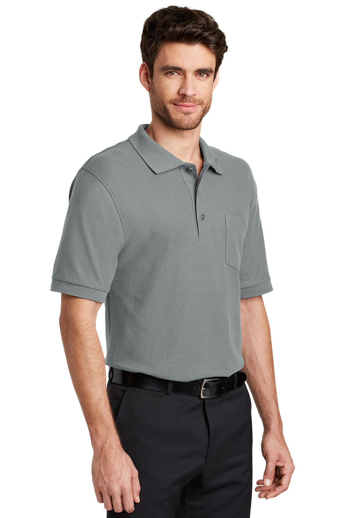 500fb045 Port Authority® Silk Touch™ Polo with Pocket