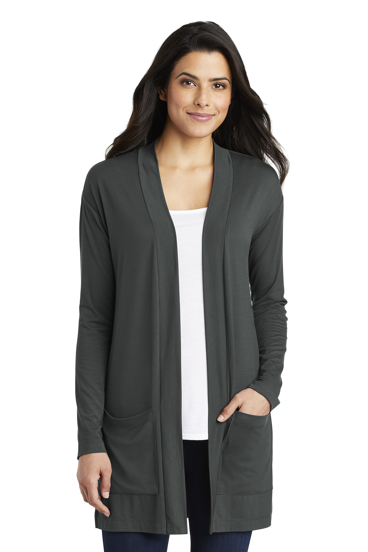 Port Authority ® Ladies Concept Long Pocket Cardigan  8be9ee4f9