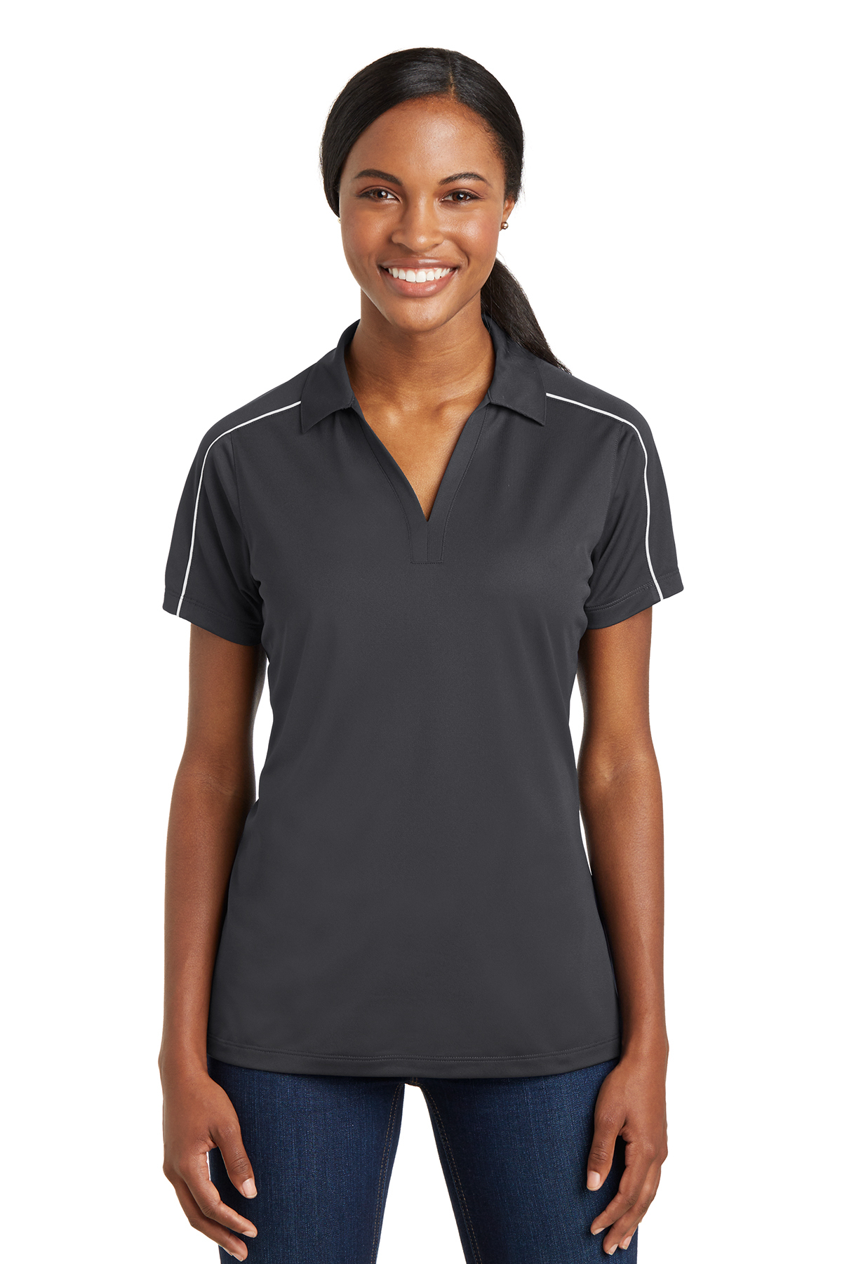 7a540ddbe Sport-Tek® Ladies Micropique Sport-Wick® Piped Polo | Ladies ...