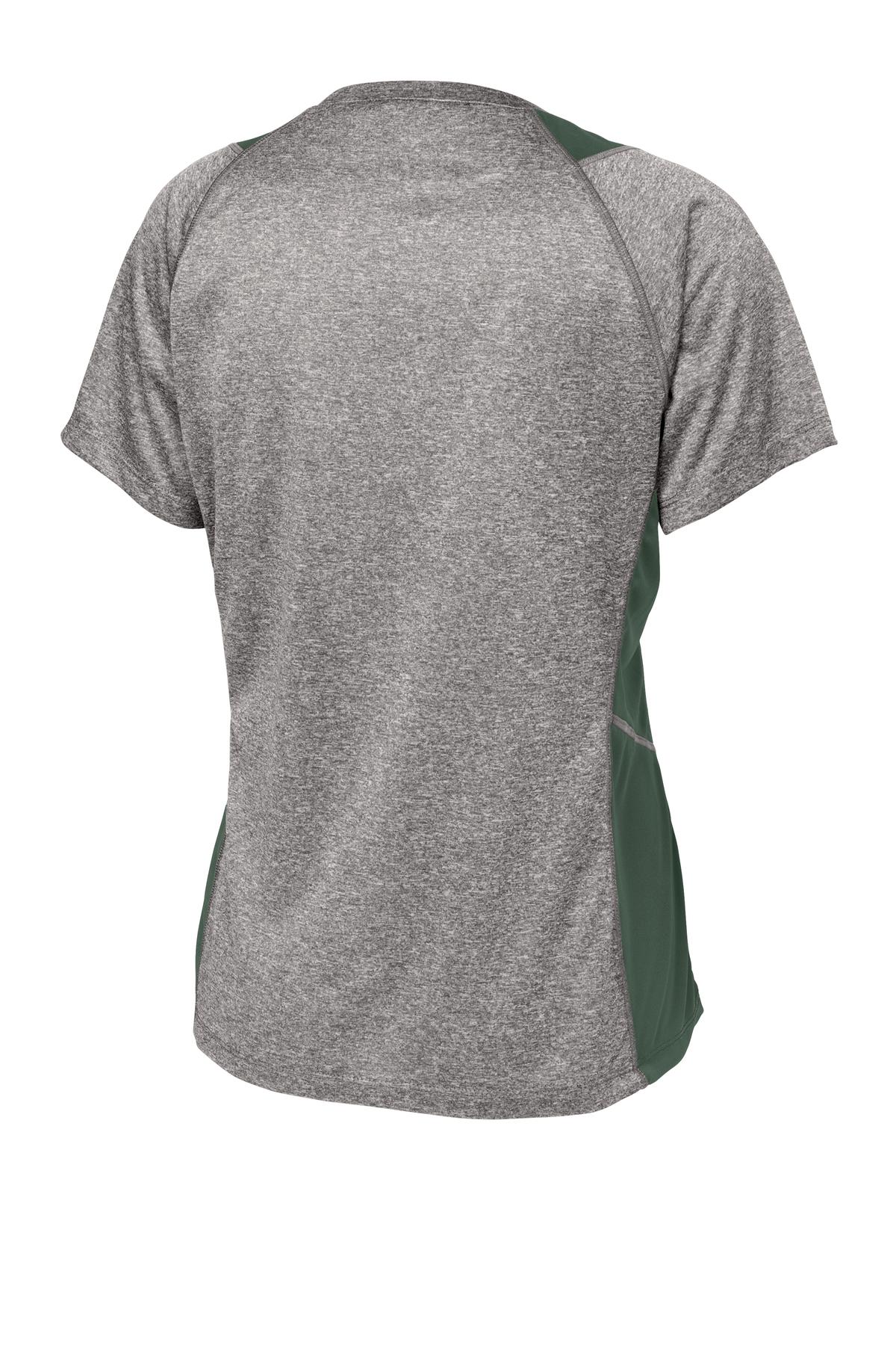 Sport Tek Youth Heather Colorblock Contender T-Shirt-S Vintage Heather//Black