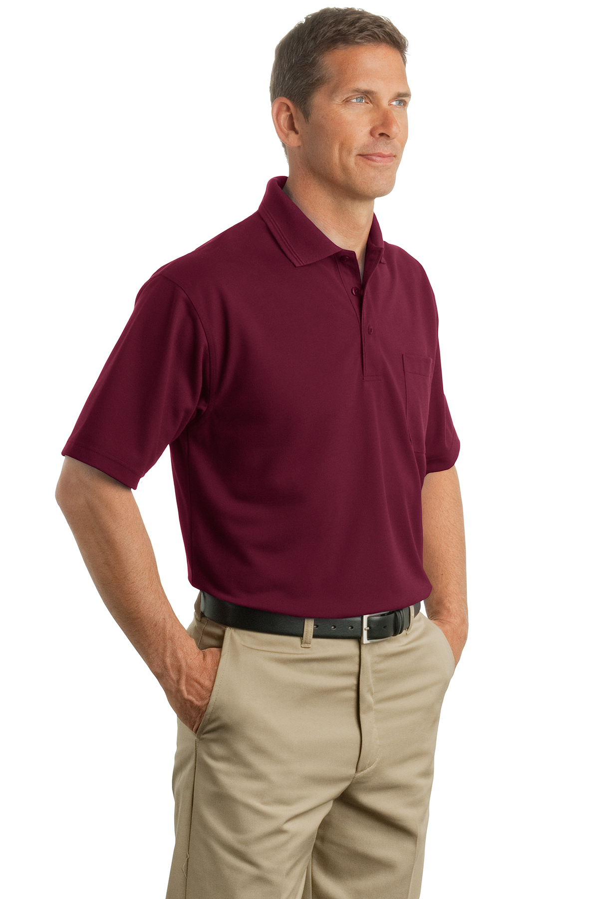 Cornerstone Industrial Pocket Pique Polo