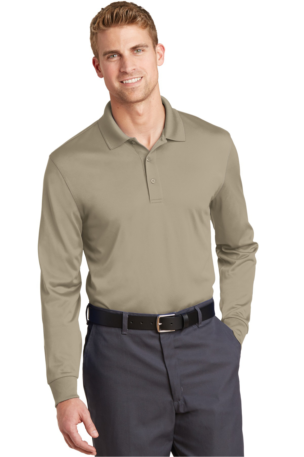 f7c887ca CornerStone® Select Snag-Proof Long Sleeve Polo | Industrial Work ...