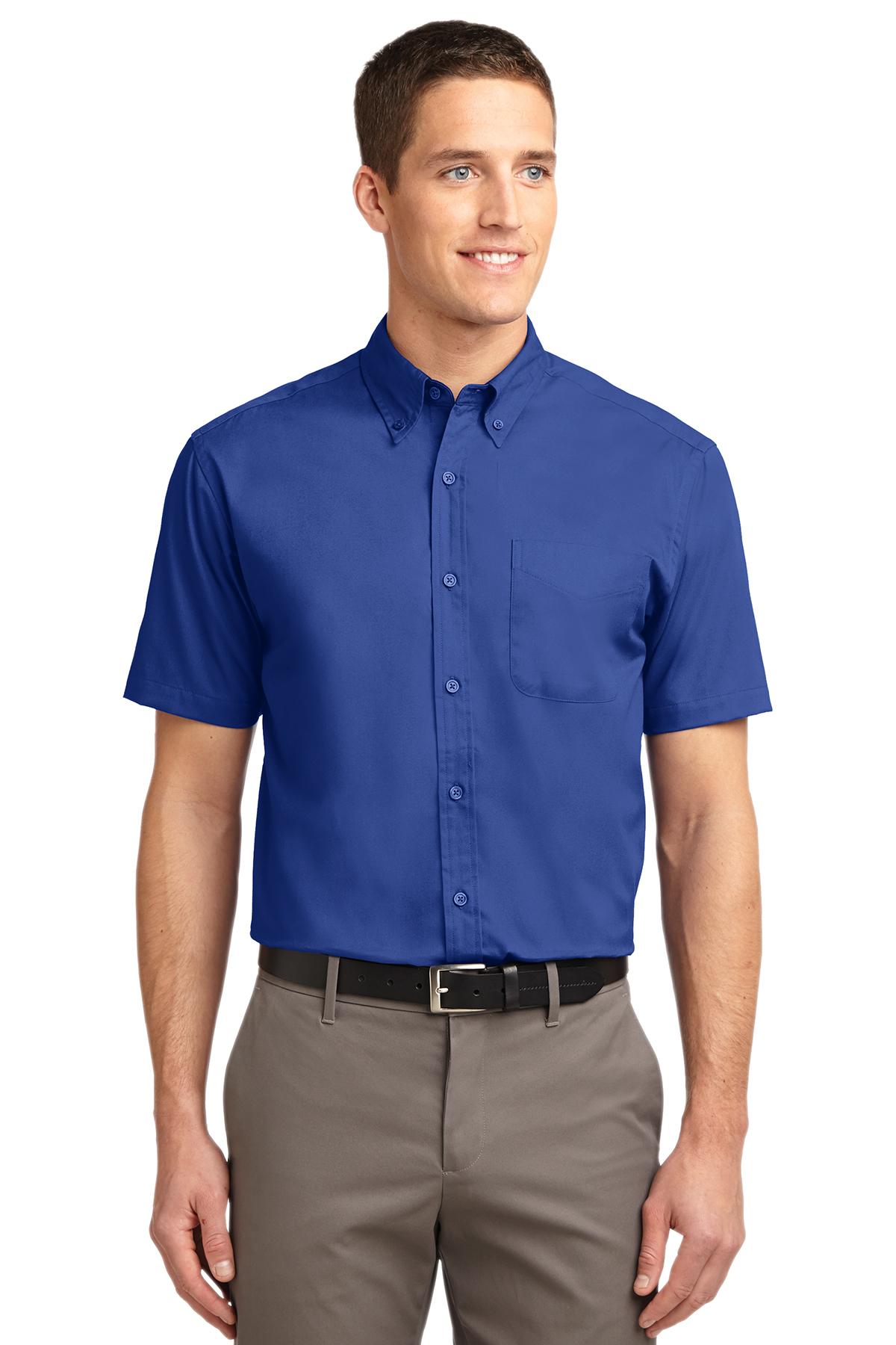 S608 Royal//Classic Navy Port Authority Long Sleeve Easy Care Shirt