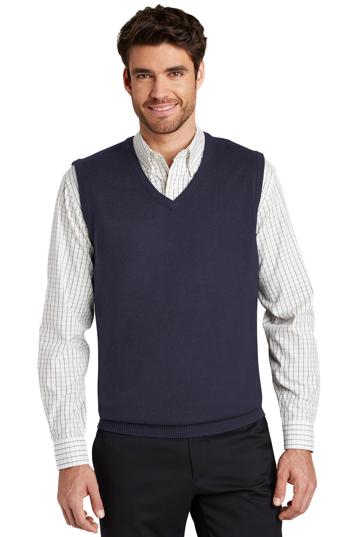 0c0fc95160d2bb Port Authority® Value V-Neck Sweater Vest | Sweaters | Polos/Knits ...