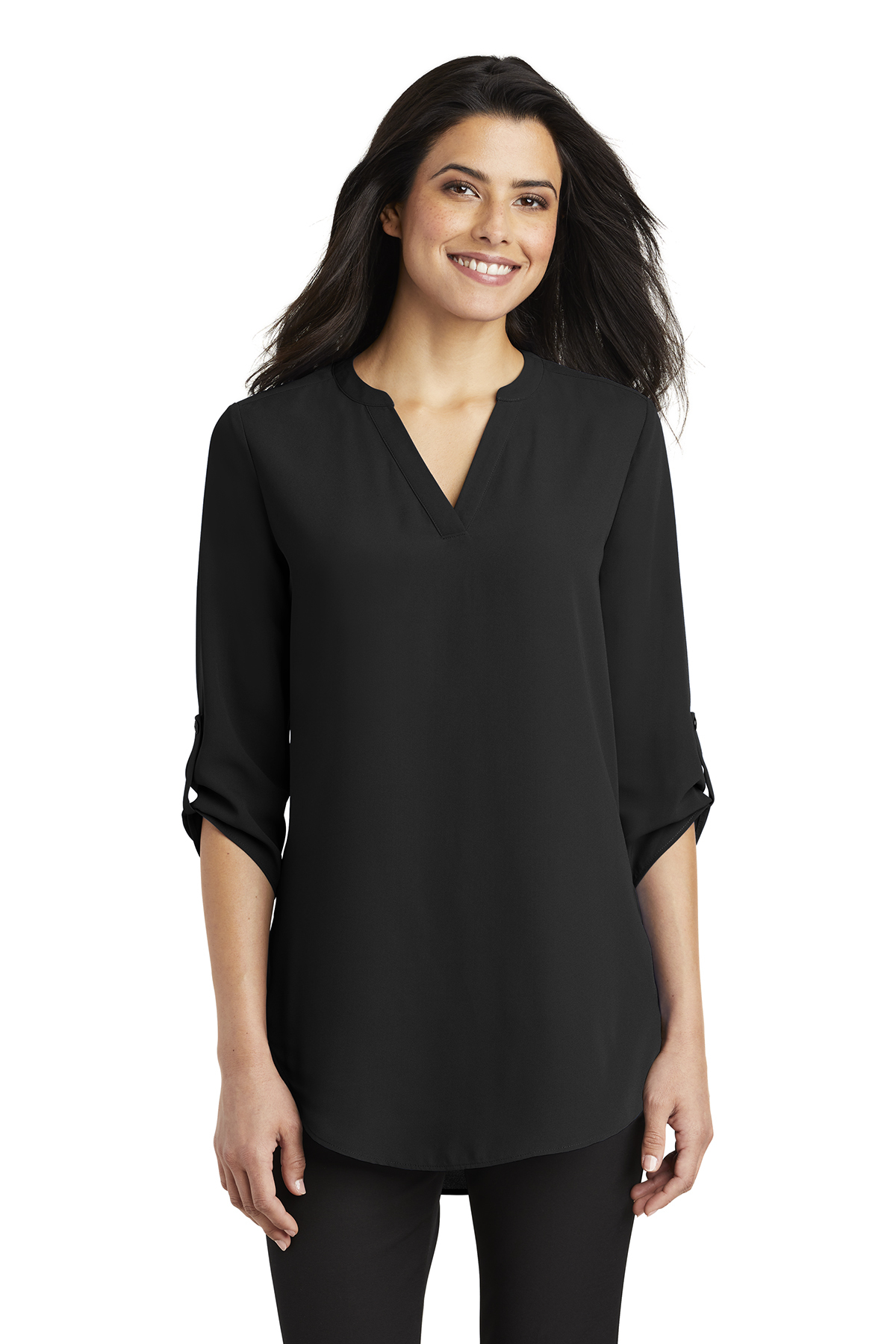 85ec31f2f7a Port Authority ® Ladies 3/4-Sleeve Tunic Blouse | Woven Shirts | SanMar