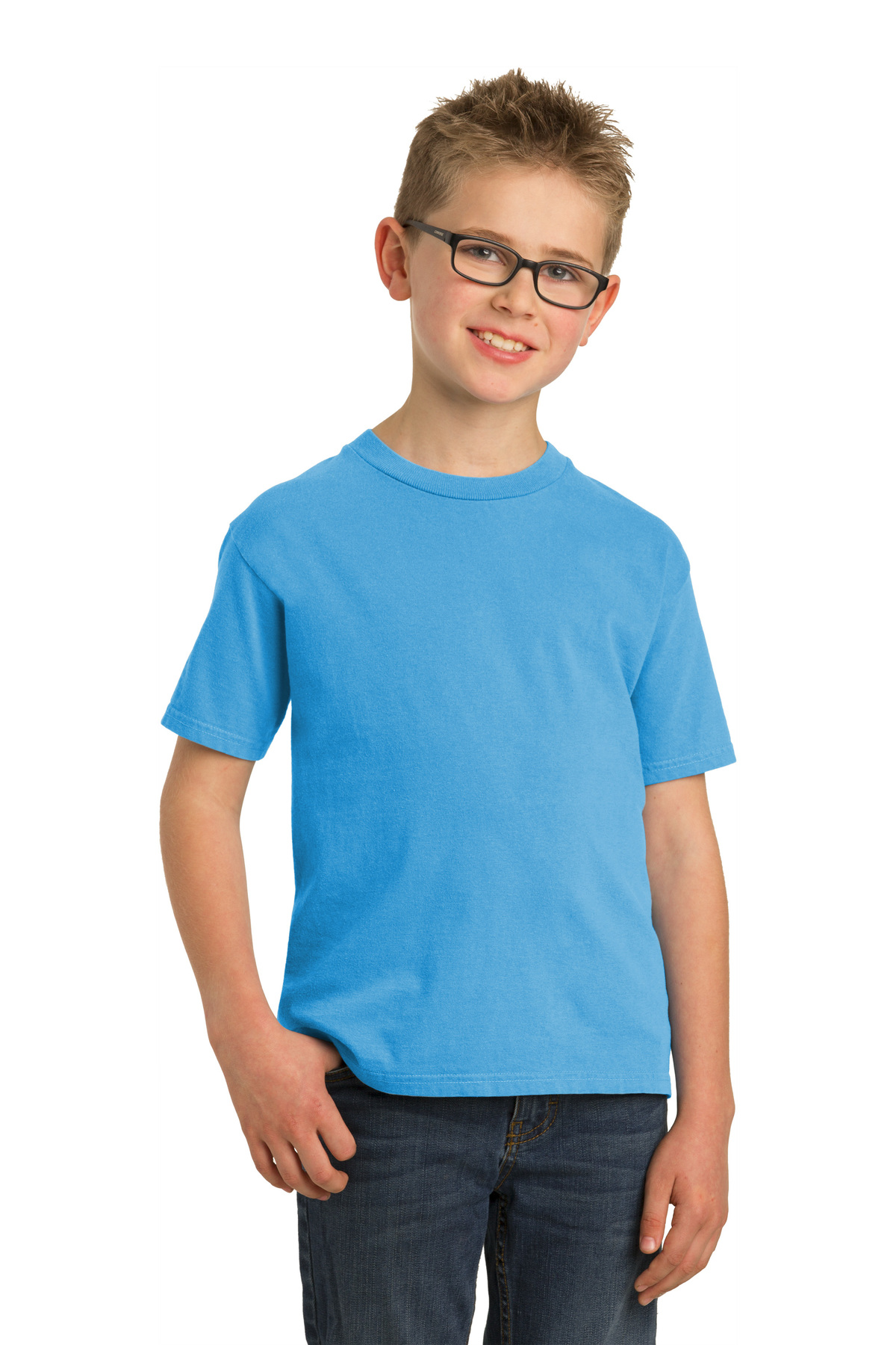 Port Company Youth Pigment Dyed Tee 5 56 100 Cotton T