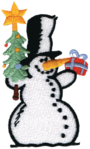 snowman-with-presents