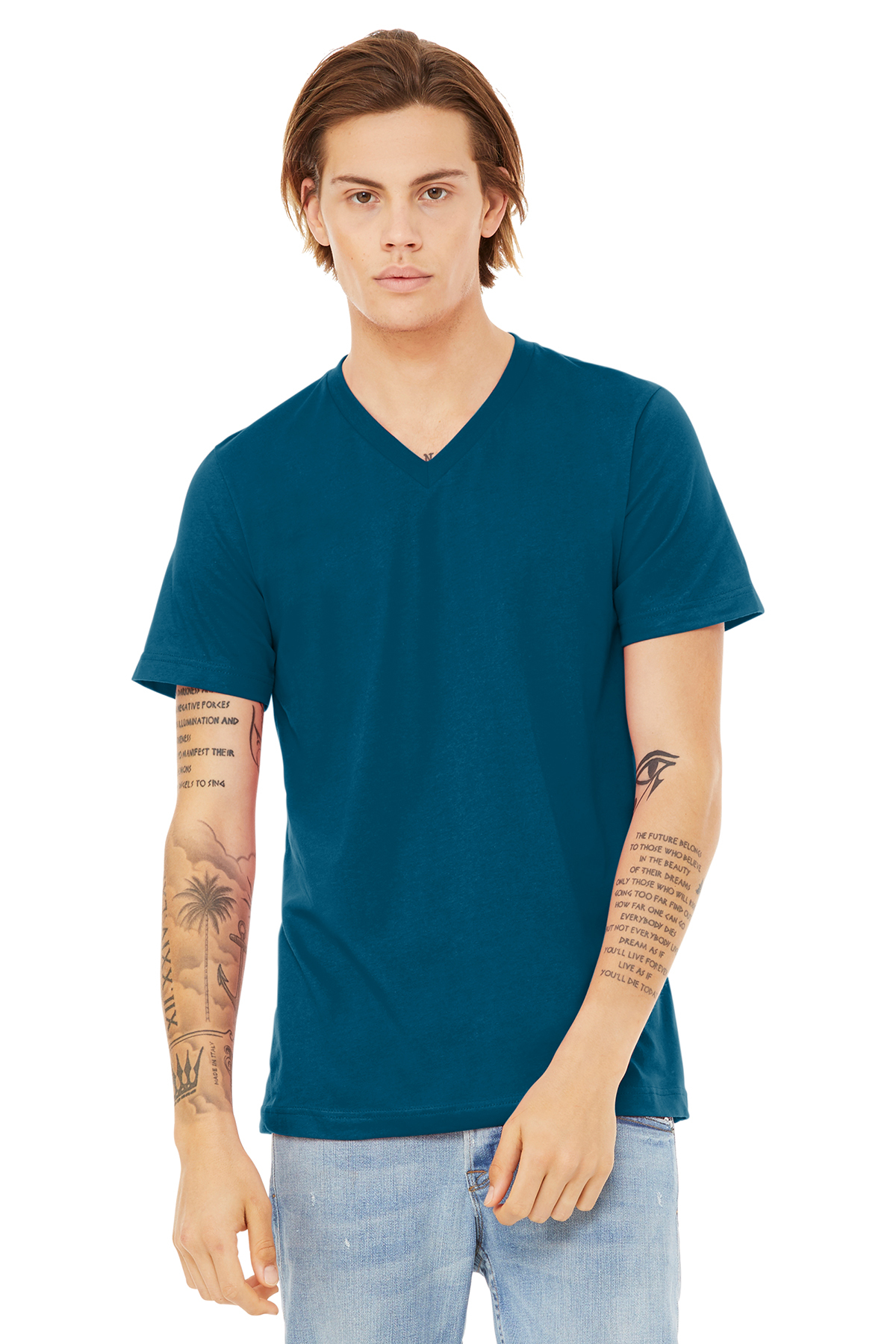 76e9857be57f BELLA+CANVAS ® Unisex Jersey Short Sleeve V-Neck Tee | Adult ...