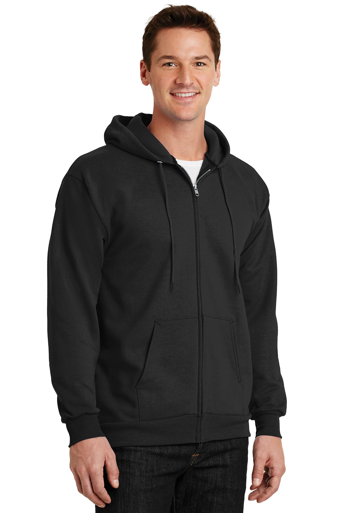 f3c6bd8e Port & Company® - Essential Fleece Full-Zip Hooded Sweatshirt ...
