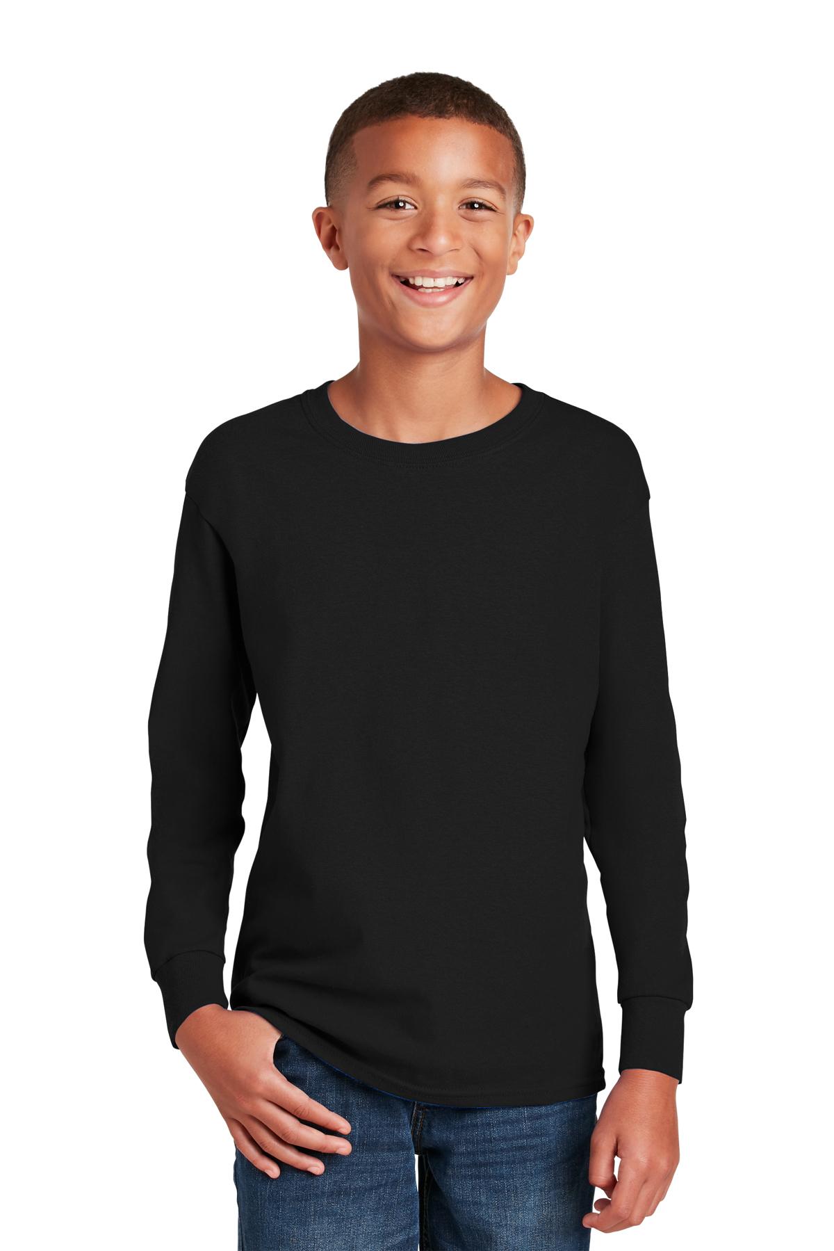 Gildan Youth Heavy Cotton 100% Cotton Long Sleeve T-Shirt