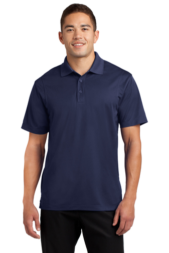 navy blue custom logo golf polos