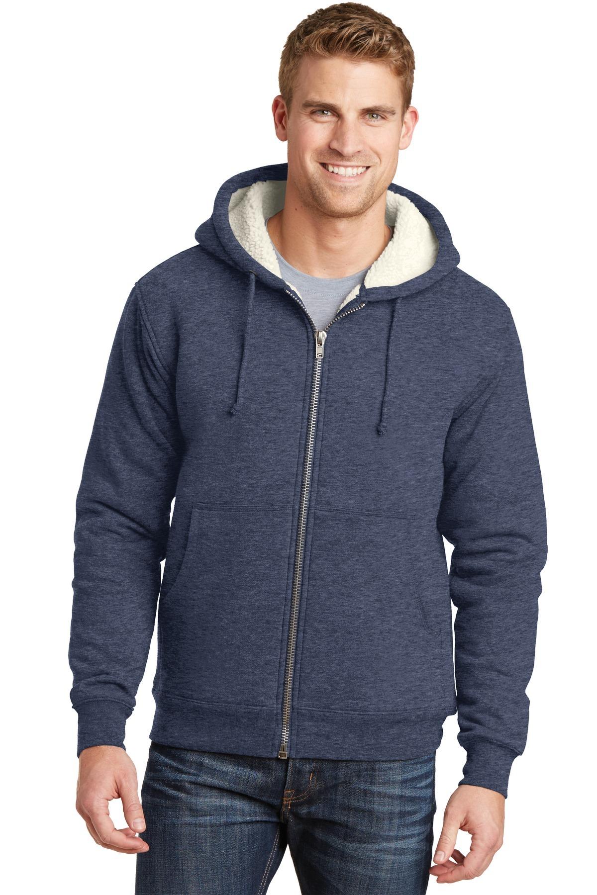 ca72a8c34 CornerStone® Heavyweight Sherpa-Lined Hooded Fleece Jacket ...