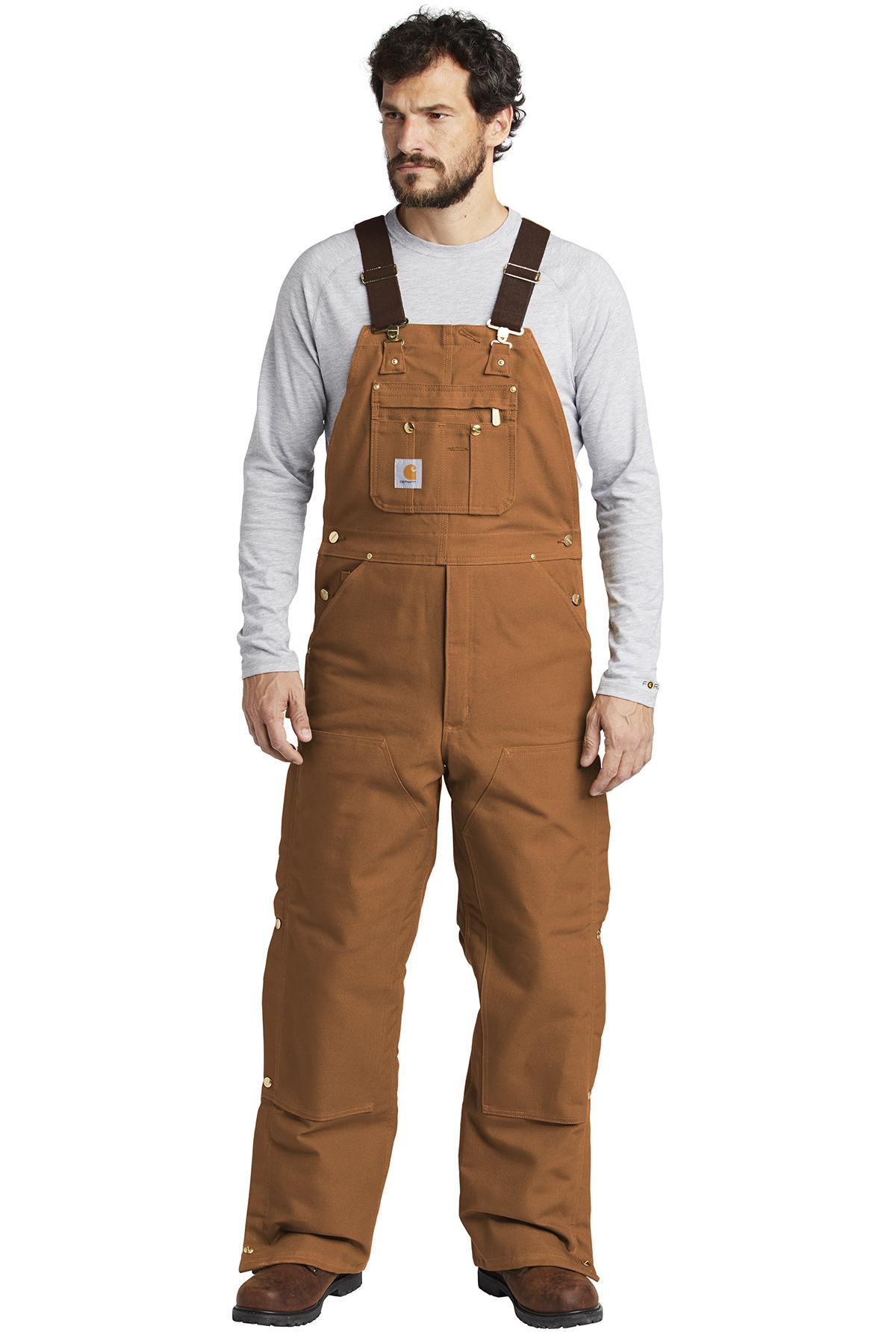 get new sale retailer top design Carhartt ® Duck Quilt-Lined Zip-To-Thigh Bib Overalls ...
