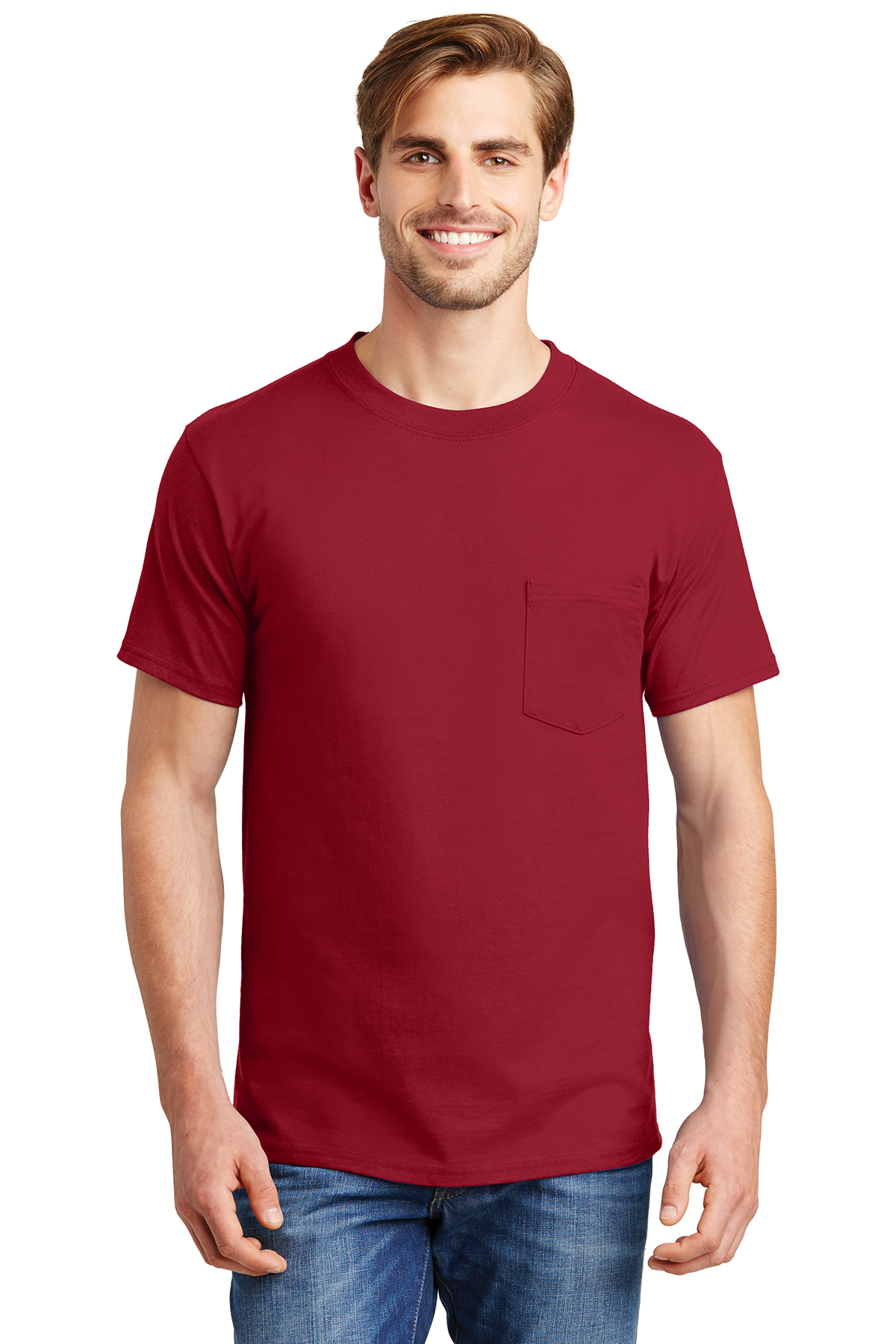 44a8fcdd766f1e Hanes® Beefy-T® - 100% Cotton T-Shirt with Pocket | 6-6.1 100 ...