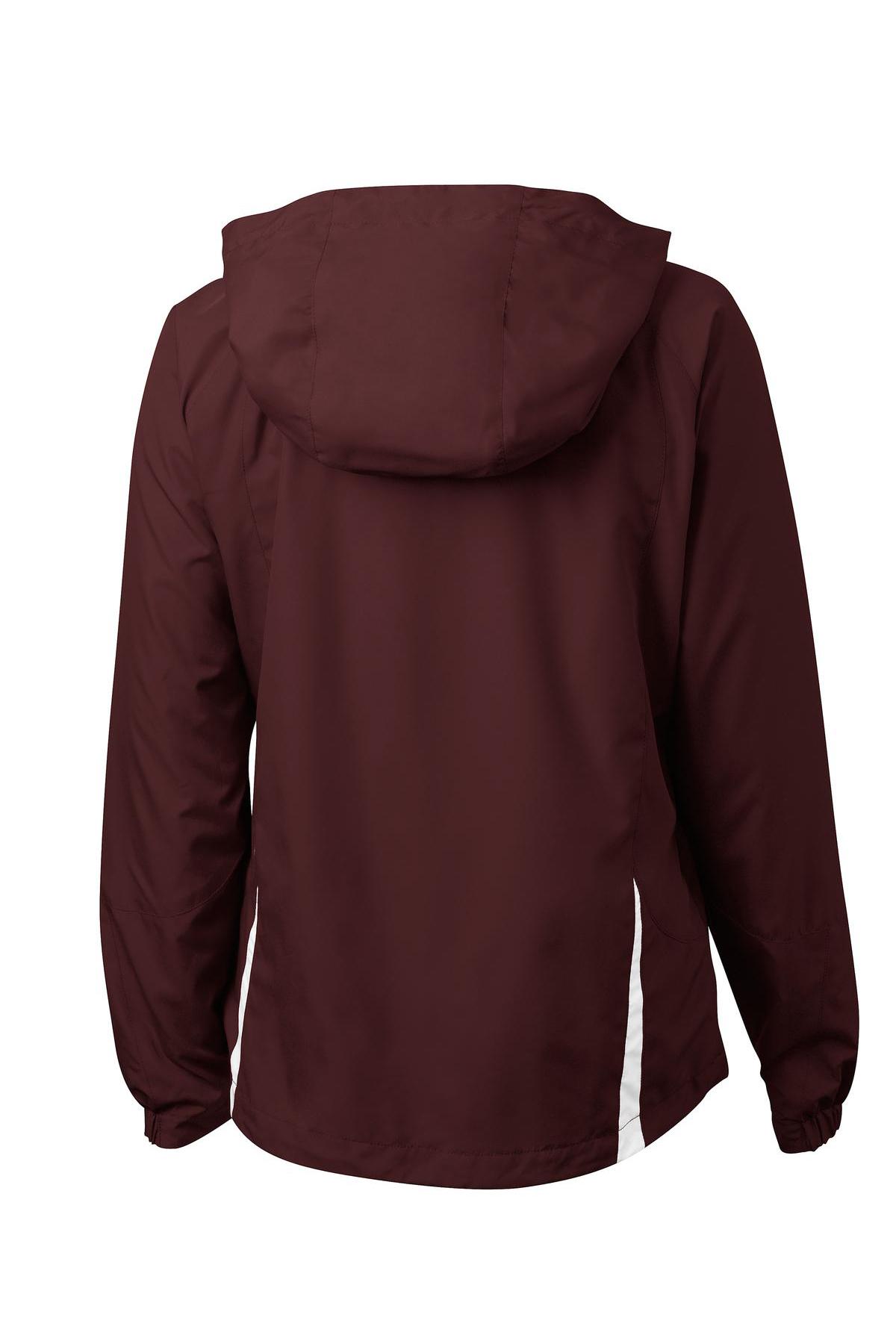 cea616544 Sport-Tek® Ladies Colorblock Hooded Raglan Jacket | Sport-Tek ...