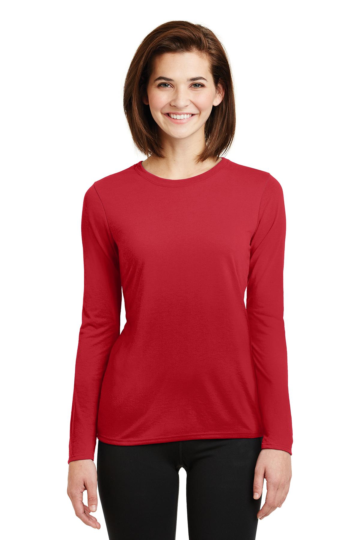 1436dbabe Gildan® Ladies Gildan Performance® Long Sleeve T-Shirt | Ladies ...